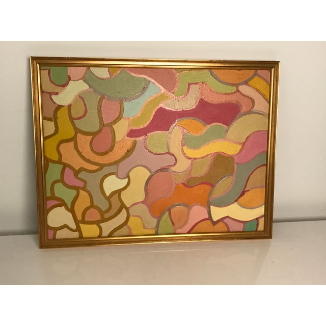 Attributed to well known California artist Lois Stecker, this beautiful acrylic original painting is in excellent...