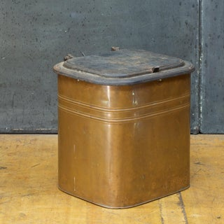 1880s Rochester Stamping Works Copper Coal Can Industrial Waste Trash Bin Preview