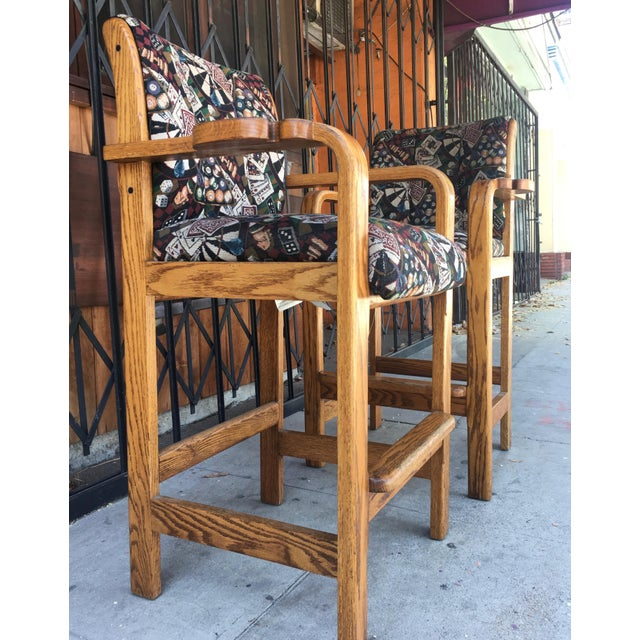 Vintage Mid Century Barstools- A Pair For Sale - Image 10 of 13