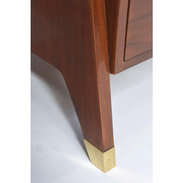 Brass Italian Modern Walnut and Brass Executive Desk, Gio Ponti For Sale - Image 7 of 9