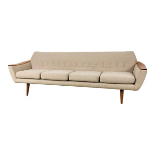Norwegian Wool Sofa by Pi Langlos Fabrikker For Sale