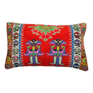 Bright Vintage Turkish Floor Pillow For Sale