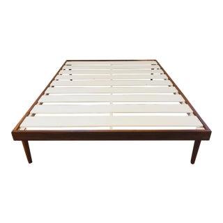 Walnut Mid-Century Modern Queen Bed