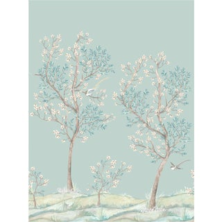 House of Harris Hillside Wallpaper, Four Panels, Multi For Sale