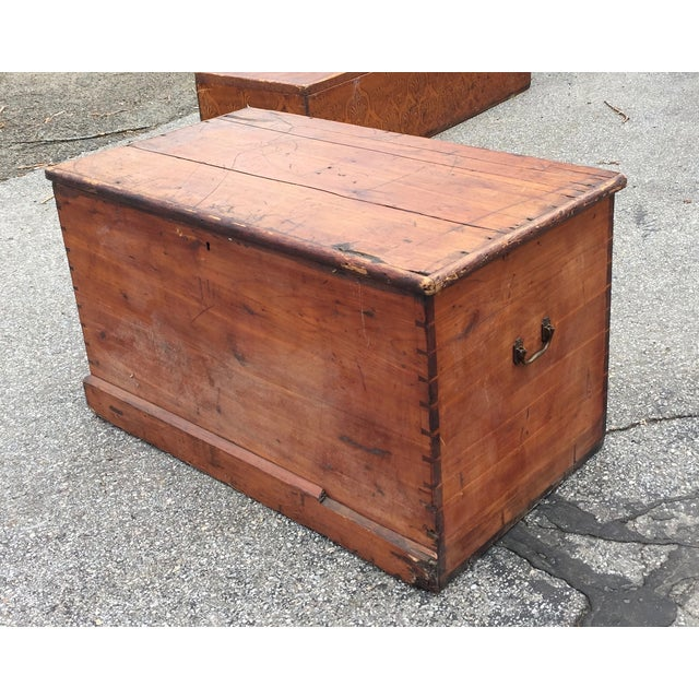 Flat Top Trunk With Handles - Image 4 of 5