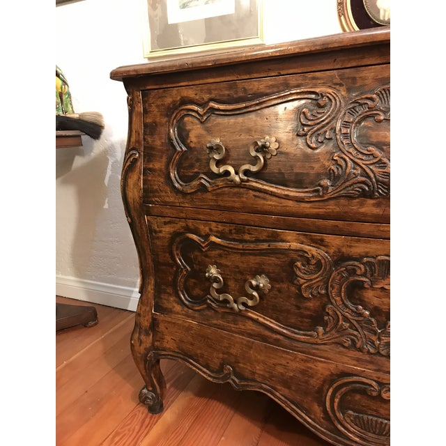 18th Century Style Carved French Provincial Dresser For Sale In Los Angeles - Image 6 of 13
