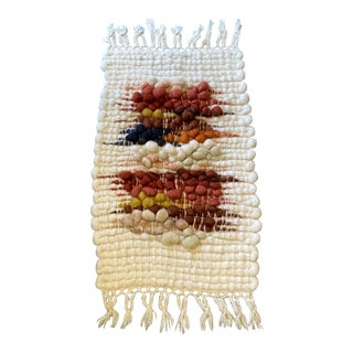 Mid Century Hand Woven Textile Wool Wall Art** For Sale