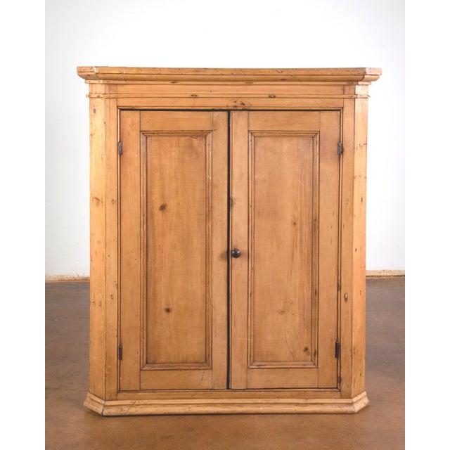 Antique Pine Hanging Corner Cupboard - Image 3 of 5