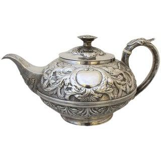 George III Repoussé Tea Pot For Sale