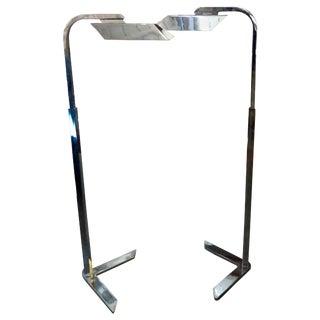 Charles Hollis Jones Floor Chrome Floor Lamps - a Pair For Sale