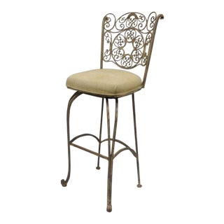 Wrought Iron Swivel Bar Stool
