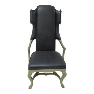 Tall Black Armchair by Jim Peed for Drexel
