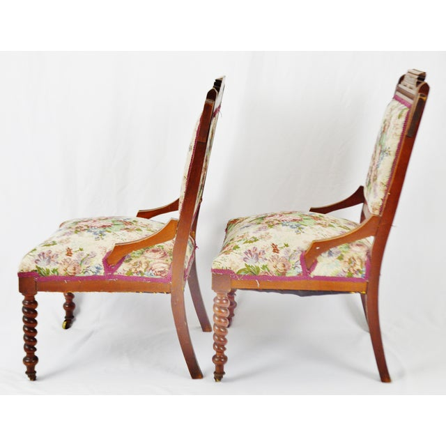 Victorian Eastlake Side Chairs - a Pair For Sale - Image 9 of 13