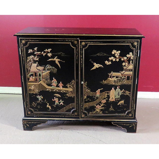 Georgian Furniture Company Chinoiserie Commode For Sale - Image 10 of 10