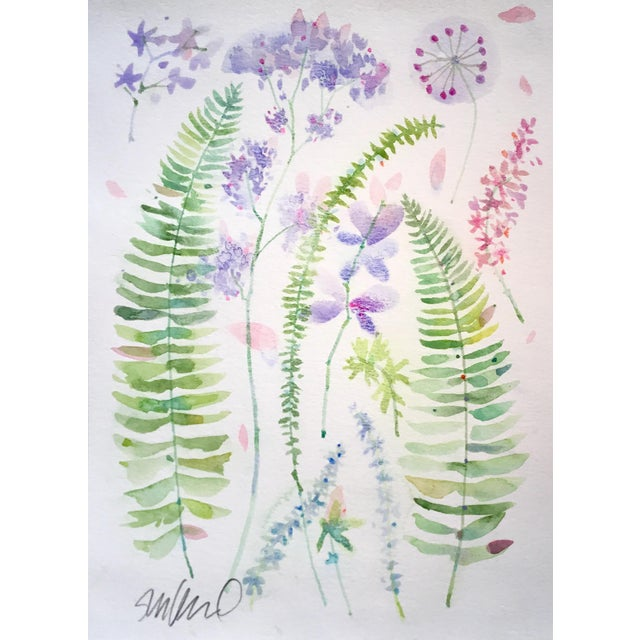 Abstract Botanical Sample Sheet. Original Watercolor. For Sale - Image 3 of 3