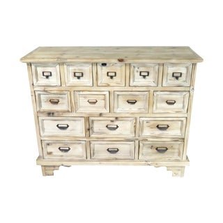 Shabby Chic Distressed Pine Commode For Sale