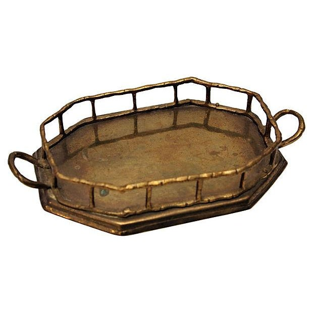 Brass Bamboo Style Vanity Tray - Image 1 of 2