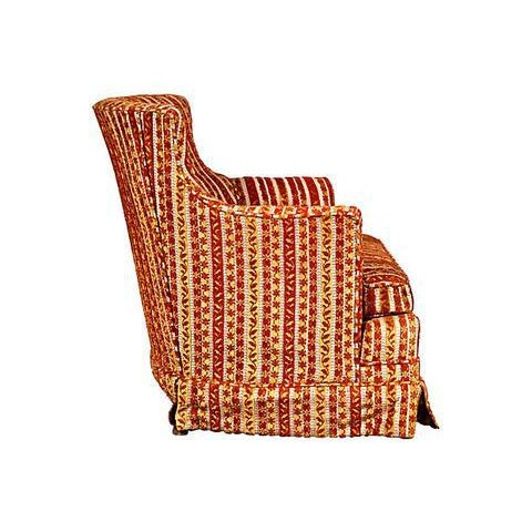 1950s Striped Fabric Lounge Chair - Image 4 of 5