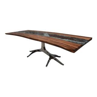 Sculptural Resin and Wood Desk For Sale