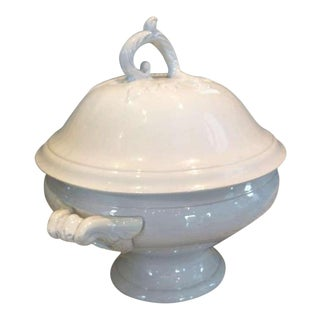 19th Century Faux Bois French Tureen With Lid For Sale