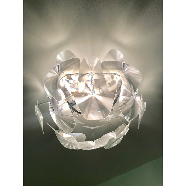 2010s Hope Modernist Ceiling Light With Reflective Prisms by Luceplan, Italy 2018 For Sale - Image 5 of 13