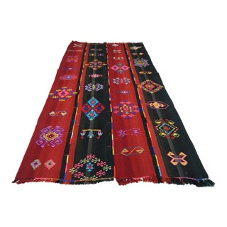 Anatolia Turkish Tribal Kilim Rug-5′5″ × 9′11″ For Sale