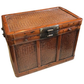Chinese Bamboo Document Box For Sale