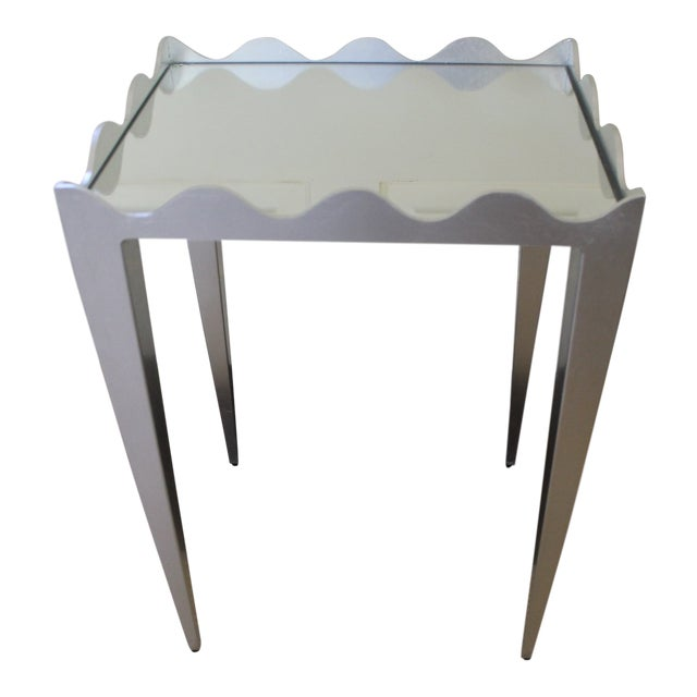 Worlds Away Wave Edge Side Table For Sale