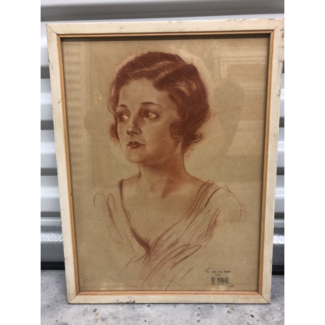Vintage Arthur Ragland Momand Original Portrait For Sale In Jacksonville, FL - Image 6 of 6