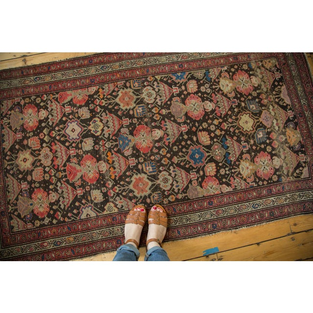 "Cottage Antique Malayer Rug - 3'7"" x 6'6"" For Sale - Image 3 of 10"