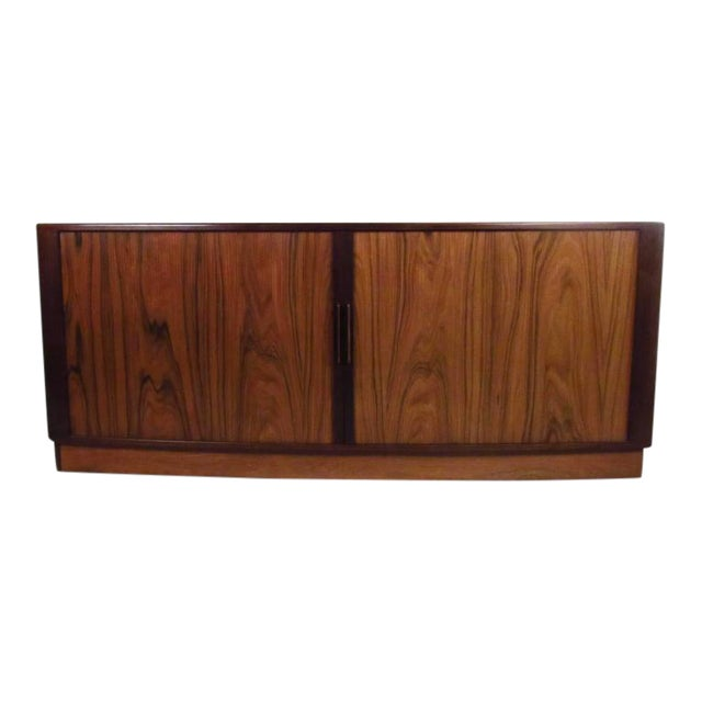 H.P. Hansen Danish Rosewood Tambour Server For Sale