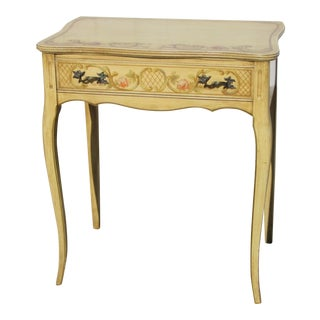 French Style Paint Decorated 1 Drawer Stand For Sale