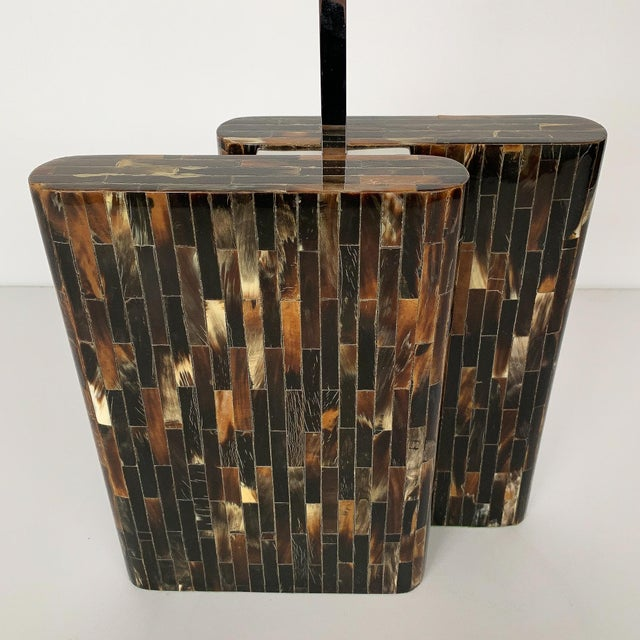 Metal Enrique Garcel Tessellated Horn Table Lamp For Sale - Image 7 of 13