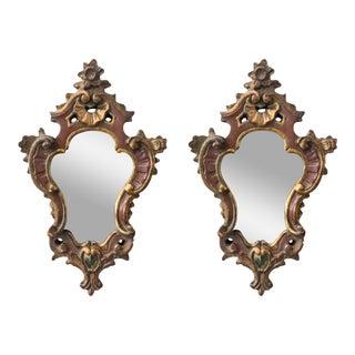 Terracotta Borghese Mirrors - A Pair
