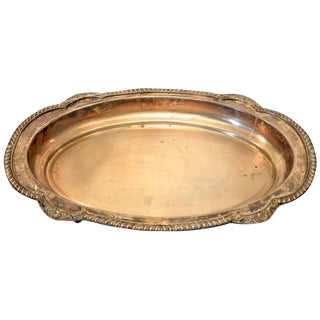 1940s Vintage Silver Tray For Sale