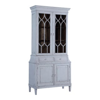 China Cabinet Rosalind Classic Antiqued White For Sale
