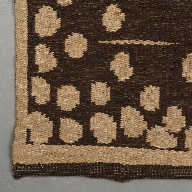"""Vintage Double Sided Swedish Rollakan Carpet - 4'1"""" X 6'3"""" - Image 5 of 7"""