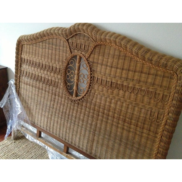 Very Rare, Ralph Lauren wicker bed. -Vintage (1980's) -Classic / Victorian / Cottage / Steampunk -Queen Bed is in great...