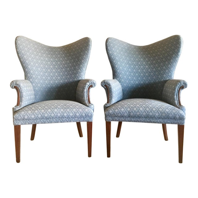 Vintage Mid Century Butterfly Wingback Chairs - a Pair For Sale