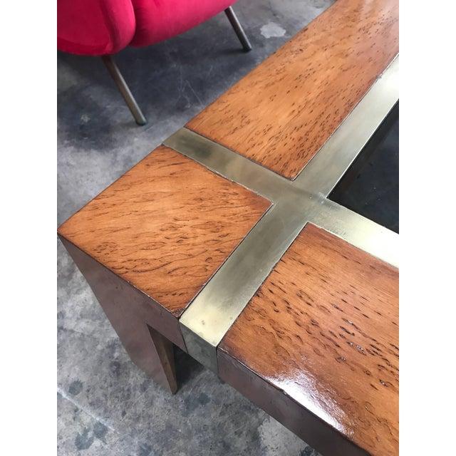 1970s Italian Coffee Table in Burl Veneer, 1970s For Sale - Image 5 of 6