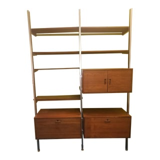 Mid Century Modern Teak Wall Unit For Sale
