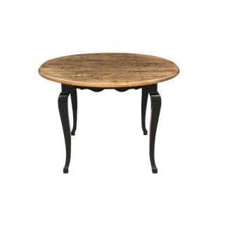 Round Provincial Plank Wood Kitchen Table