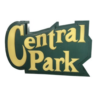 Vintage Central Park Sign For Sale