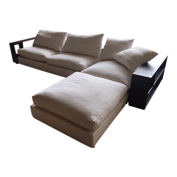 Flexform Custom Made Groundpiece Sofa For Sale
