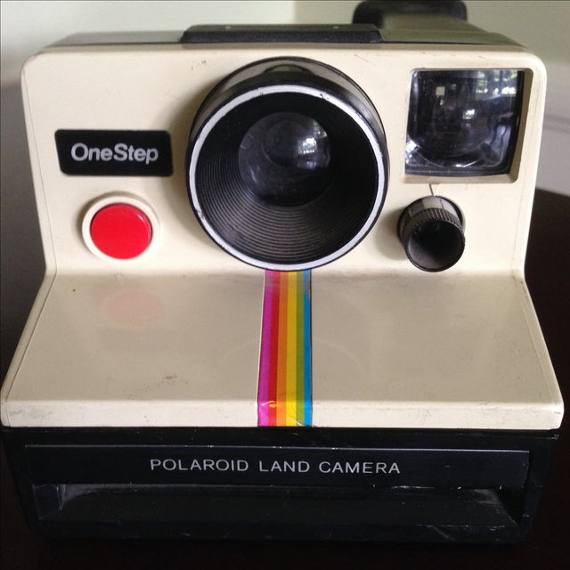 Vintage Polaroid One Step Land Camera For Sale - Image 4 of 11