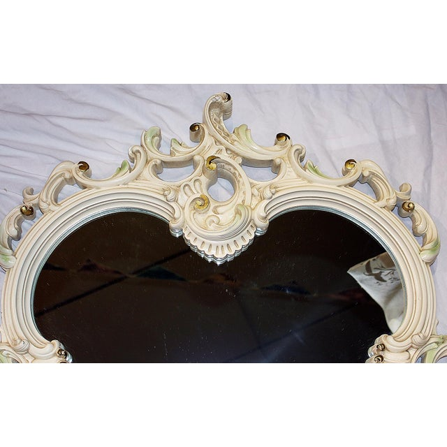 Painted Rococo Mirror For Sale - Image 4 of 6