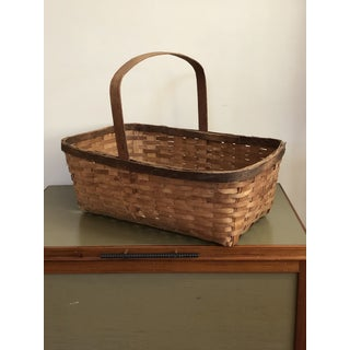 20th Century French Country Gathering Basket With Handle Preview