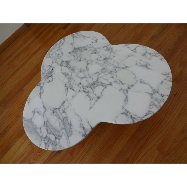 Abstract Mid-Century Modern Marble Clover Coffee Table For Sale - Image 3 of 9