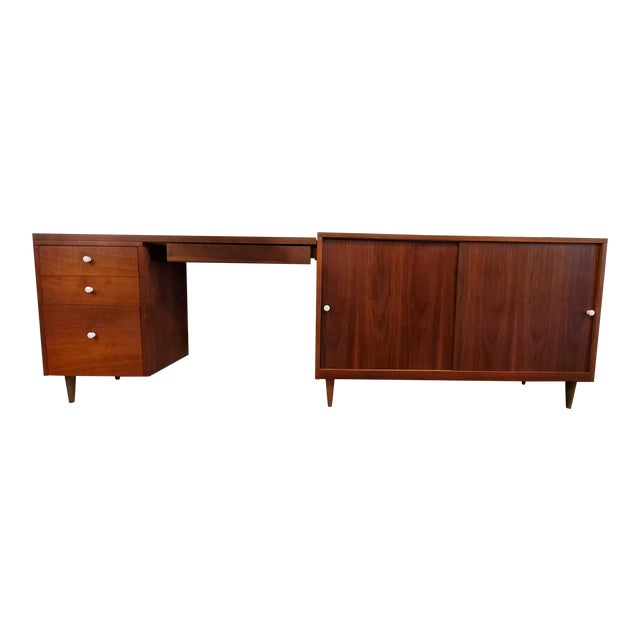 Mid-Century Modern Desk & Credenza - A Pair For Sale