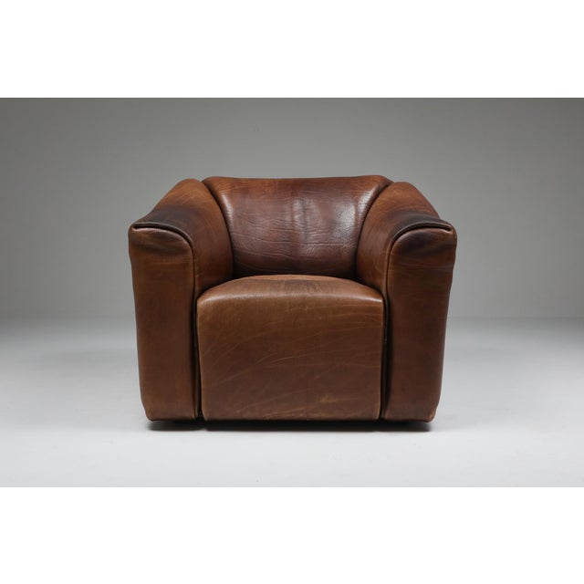 Mid-Century Modern 1970s De Sede Ds 47 Brown Leather Armchair For Sale - Image 3 of 10